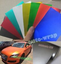 1 Set Samples - New Car Flat Matte Chrome Metallic Vinyl Wrap Sticker Film Sheet