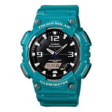 Casio AQ-S810WC-3AV Men's Teal Solar Analog Digital World Time Sports Watch
