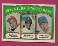 1972 TOPPS # 85 JOE TORRE BATTING  LDR EX-MT CARD (INV# A7719)