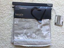 Kensie Home Back Tab Window Panel Beige Linen Color Cotton Blend 54 x 84 Clara