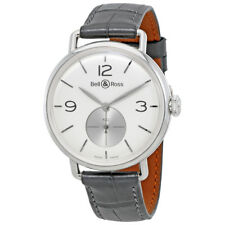 Bell & Ross WW1 Argentium Argento Gents Orologio Brww 1-ME-AG-SI-SC RRP £ 3700 NUOVO