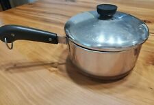 REVERE WARE 1801 2 Qt Pot with Lid - Stainless w/ Copper Bottom