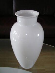 Heinrich & Co. Bavaria Selb Vase Blumenvase Flower Vase Weiß White um 1940 (4)