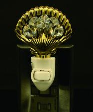 24K Placcato Oro Cristallo Swarovski Borchiato Conchiglia Luce Notturna Ul