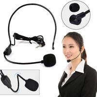 3.5mm Wired Hands Free Headset Microphone Mic System Megaphone Speaker Teacher