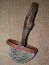 Antique Brown Leather & Weaved Wire Cob/Full - Adjustable Horse Grazing Muzzle