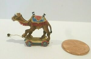 SIGNED DOLLHOUSE MINIATURE CAMEL PULL TOY