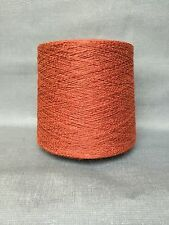 QUALITY YARN CONE 2 PLY 58% / 42% LINEN / COTTON OXIDE RED COLOUR 1000g 20 BALLS