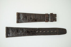 OMEGA NOS Vintage Leather Watch Strap Brown 20/14 20mm (B226)