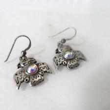 Navajo Dangle Earrings Beautiful Vintage Sterling Silver Thunderbird