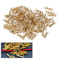 100Pcs Brass Copper 0.5-1.5mm² Crimp Electrical Connector Wire Terminal Kit US