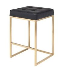 Chi Counter Stool in Black Naugahyde by Nuevo - HGMM153