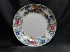 "Royal Doulton Floradora Green, Florals, Green Trim: Bread Plate (s), 6 7/8"""