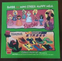 Vintage Collectible McDonald's Barbie Mini-Streex Translite Plastic Sign