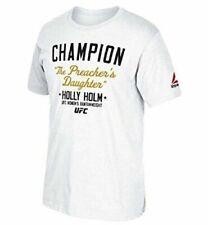 Reebok Men's UFC Fan Holly Holm Champion Short-sleeve T-shirt White 2xl BN 1