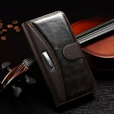 For iPhone Samsung Galaxy Case New Genuine Real Leather Flip Wallet Stand Cover