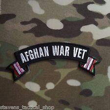 AFGHAN WAR VET Small Rocker Military Patch
