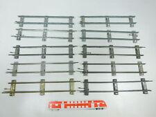 BW96-1 #10x Märklin Escala 0 Piezas de vía Recto (26cm) para Accionamiento Reloj