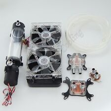 DIY Water Cooling Kit CPU GPU North South Bridge Water Block 240 Radiato Pump