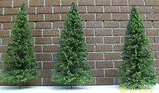 "O GAUGE MINIATURE PINE TREES -Ten Pack- 5"" Tall  / Model railroad train layouts"