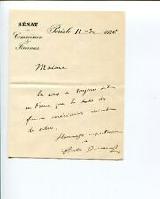 Charles Dumont France Minister of Finance Signed Autograph ALS