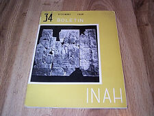 4 Boletin INAH - Instituto Nacional De Antropologia E Historia 1968 &1970 ILLUS