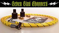7MM SPARK PLUG WIRE IGNITION KIT CHOPPER BOBBER TRIUMPH HARLEY XS650 YLW JACKET