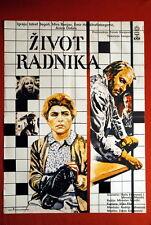 A WORKER'S LIFE ANICA DOBRA 1987 RARE EXYU MOVIE POSTER