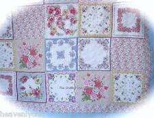 Queen Quilt Pillows Bed Valance Set Patchwork Bedspread Pink White Blue Lavender