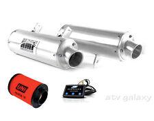 HMF Performance Dual Slip On Exhaust + EFI Uni Air Filter Can am Renegade 800 12