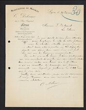 "LYON (69) MENUISERIE / MEUBLES ""C. DELORME"" en 1921"