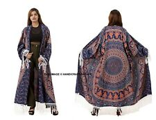 Womens Elephant Beach Cover Up Kimono Cardigan Coat Tops Blouse Shawl Kaftan