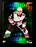 Clayton Keller - 2017-18 Upper Deck Fluorescence Green 9/10 #F- 44 Rookie