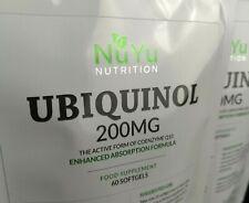 Ubiquinol 200mg Maximum Strength Softgels (Bioavailable CoQ10) High Absorption