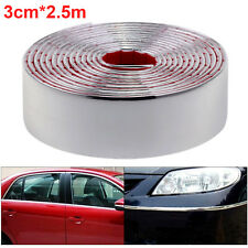 More details for new self adhesive chrome strip car detail edging styling moulding trim 30mmx2.5m