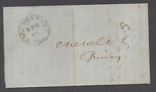 **US 19th Cent Stampless Cover Tallahassee, FL 4/16/1849 CDS, F/L Legal Contents