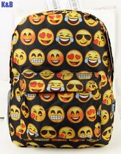 New Girls Boy Emoji Backpack Rucksack School Bag Satchel Hiking Shoulders Bag