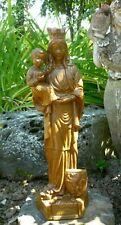 STATUE VIERGE MARIE NOTRE DAME DES FLANDRES ENFANT JESUS DE MERLINI EN PLATRE