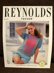Reynolds Yarns Tucson 960 Color Blocked Pullover Knitting Pattern New