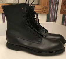 Wolverine New Ansi Boots Black Leather Steel Toe Military Safety Men's Sz 10.5M