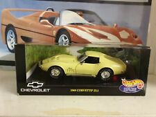 HOTWHEELS- 1969 CHEVROLET CORVETTE 2L1 - YELLOW - 1:18 SCALE MODEL CAR - MTO897