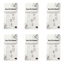 6Pcs Nano SIM Card to Micro Standard Adapter Converter Set For Samsung iPhone B5