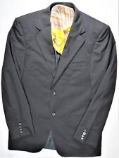 Gucci Mens Suit-Jacket Blazer SportCoat 40 R Black Wool Italy Designer Fashion