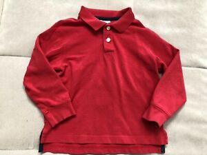 Hanna Andersson 110 Red Polo Shirt Size 4-5 Long Sleeve Uniform