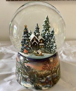 "Snow Globe Roman musical Christmas Plays the song Winter Wonderland 5-3/4"" Tall"