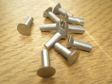 """Solide en aluminium à tête fraisée à Rivets 1/8"""" X 3/8"""" Qté 10"""