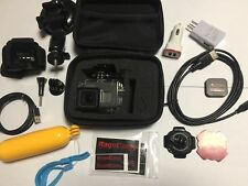 GoPro HD Hero6 Black Camera W/Head Strap-Suction Cup-HDMI Cable-Dive+Carry Case