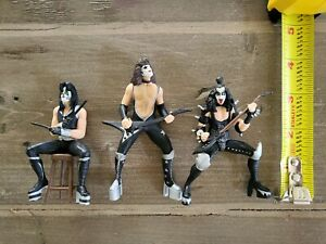 KISS Gene Simmons Action Figures lot of 3 16309