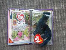 Ty Retired Beanie Baby Dinosaur Trio Bronty Brontosaurus 94 McDonald's Toy New