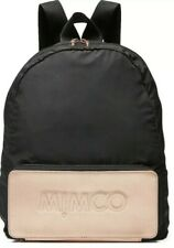 BNWT MIMCO Foldable Auxiliary Backpack Bag BLACK Free Express